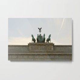 Victory, Brandenburger Gate statue Berlin Metal Print