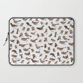 Grey birds Laptop Sleeve