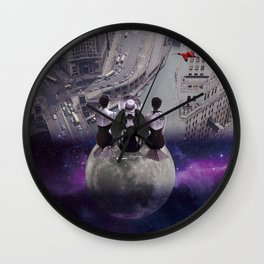 let's look down on everything from the super moon Wall Clock