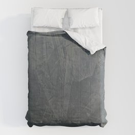 Slate Gray Stucco w Shiny Copper Metallic Trim - Faux Finishes - Rustic Glam - Corbin Henry Comforters