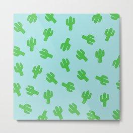 Cactus Pattern Sky Blue Home Decor Case Canvas Backpack Pillow Cactus Duvet Metal Print