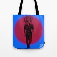 lebron Tote Bags featuring Scarce on Chiefs by SaintCastro