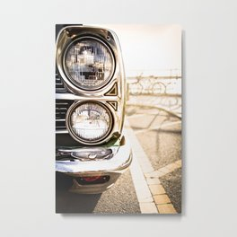 Classic Car Headlights Metal Print