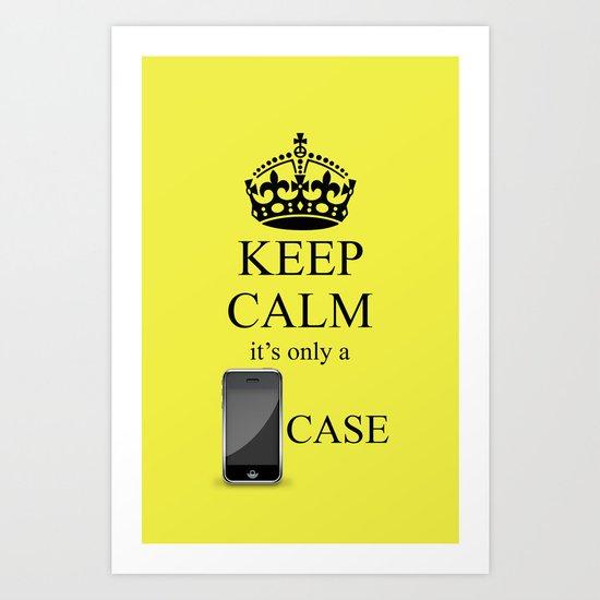 KEEP CALM IPHONE v3 Art Print