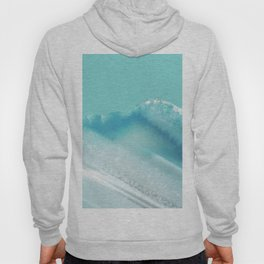 Geode Crystal Turquoise Blue Hoody