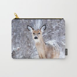 Deer In Snow Carry-All Pouch