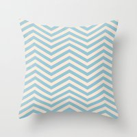 chevron Throw Pillows featuring Chevron by Patterns and Textures