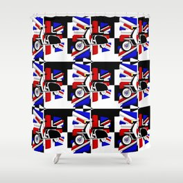 Scooter UK Shower Curtain