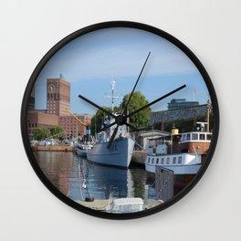Minesweeper Alta In Oslo Wall Clock