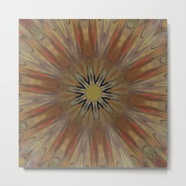 Pinkbrown(blue) Pattern 14 (New Mandala) Metal Print