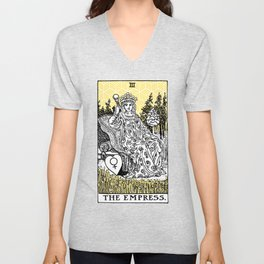 Geometric Tarot Print - The Empress Unisex V-Neck