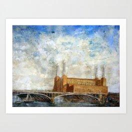 Battersea Power Station London January 2012 Art Print