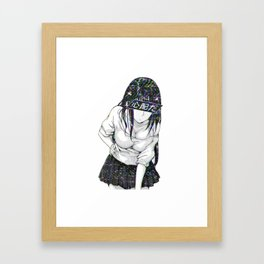 CONCENTRATE - SAD JAPANESE ANIME AESTHETIC Framed Art Print