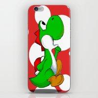 yoshi iPhone & iPod Skins featuring yoshi by Mike E. Shorts