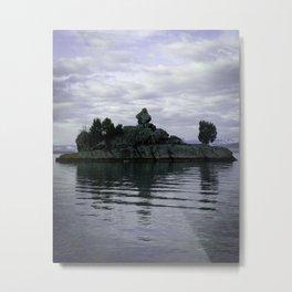 Blue Island Sky Metal Print