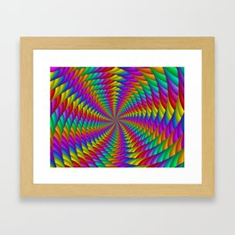Psychedelic Rainbow Spiral Framed Art Print