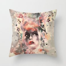 Attractive Women Throw Pillow