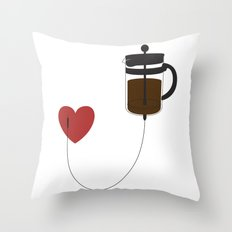 IV Coffee Throw Pillow