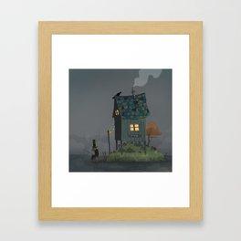 In the swamp Framed Art Print