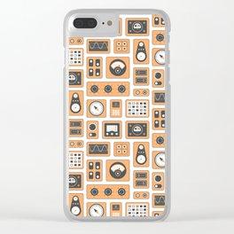 Mission Control - Orange & Black Clear iPhone Case