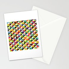 Mid-century triangle pattern Stationery Cards