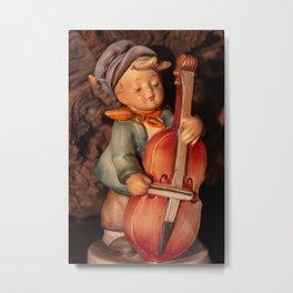 Bass Player Metal Print