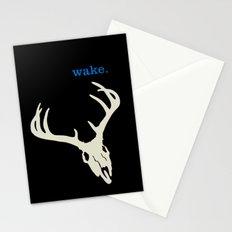 WAKE - SKULL (BLACK) Stationery Cards