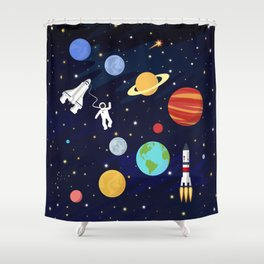 In space Shower Curtain