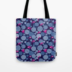 Red Panda Forest - Blue Tote Bag