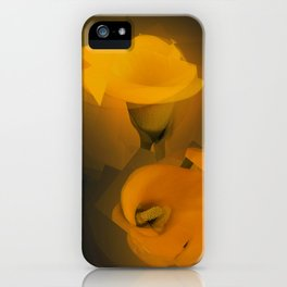 Calla Lily Warm Yellow Cubist Effect iPhone Case