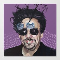 tim burton Canvas Prints featuring Tim Burton by Pazu Cheng