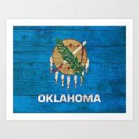 oklahoma Art Prints featuring Oklahoma by C Liza B