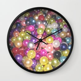 Rainbow beads Wall Clock