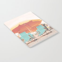 Beach Chairs and Umbrellas Notebook