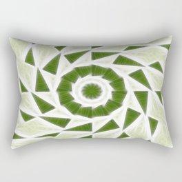 Green White Kaleidoscope Art 3 Rectangular Pillow