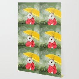 It's raining, little bunny! Wallpaper