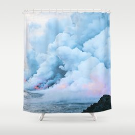 Pastel volcano smoke Shower Curtain