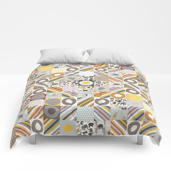 urban jungle squares Comforters
