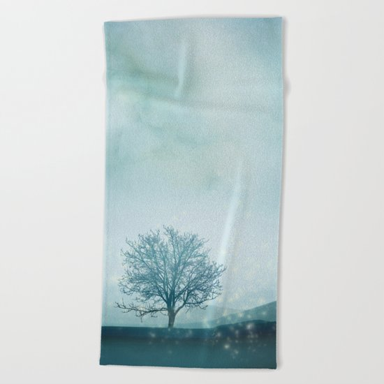 Winter Fairies Beach Towel