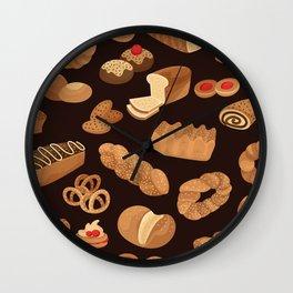 Bakery Pattern Wall Clock