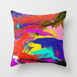 Rainbow Abstract II Throw Pillow