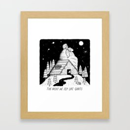 The Night We Felt Like Giants Framed Art Print