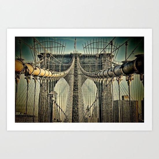 Brooklyn Bridge 3 Lomo Art Print
