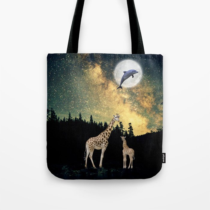 flying dolphin Tote Bag