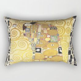 Huge Embrace behind the Curtain by Gustav Klimt Rectangular Pillow