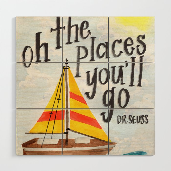 Oh the Places You'll Go - Dr. Seuss Wood Wall Art