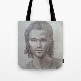 Sam Winchester Graphite portrait Tote Bag