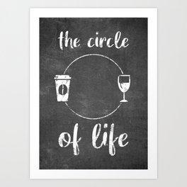 Coffee And Wine Art Print