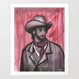 Never Tell A Cowboy What To Do Art Print