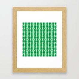 Saloon Wallpaper Mint Green Sap Green Country Wallpaper Molding Southwestern Design Pattern Framed Art Print